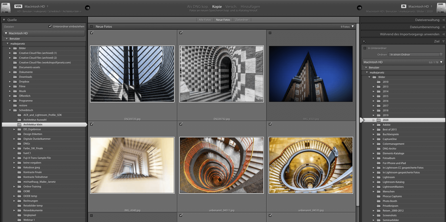 Lightroom-Workflow Reise- und Architekturfotografie